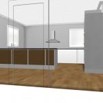 Förslag 2: 37 djupa högskåp som är 60 breda bredvid varandra som en egen möbel.