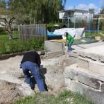 Ungefär 50 centimeter ska det grävas.