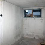 Rummet känns inte så stort helt plötsligt, men det kommer räcka gott och väl till tvättstuga.
