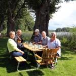 Lunch nere vid Djulö Herrgårdscafé.