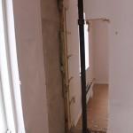 Garderoben är borta och visst lite av väggen också...